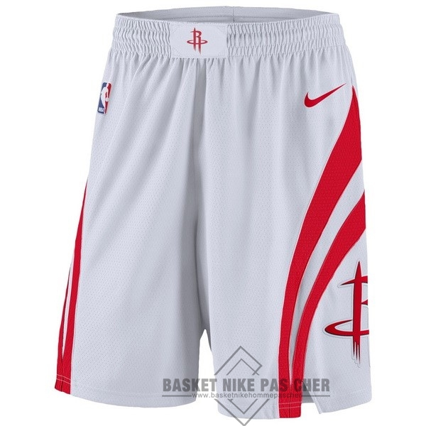 Maillot NBA Pas Cher - Short Basket Houston Rockets Nike Blanc