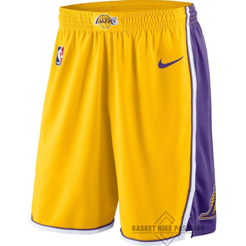 Maillot NBA Pas Cher - Short Basket Los Angeles Lakers Nike Jaune
