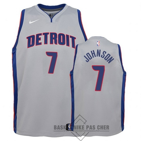 Maillot NBA Pas Cher - Maillot NBA Enfant Detroit Pistons NO.7 Stanley Johnson Gris Statement