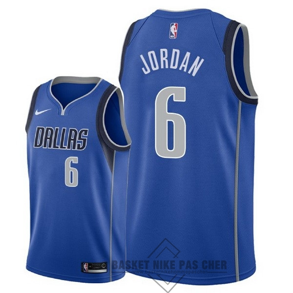 Maillot NBA Pas Cher - Maillot NBA Nike Dallas Mavericks NO.6 DeAndre Jordan Bleu Icon 2018