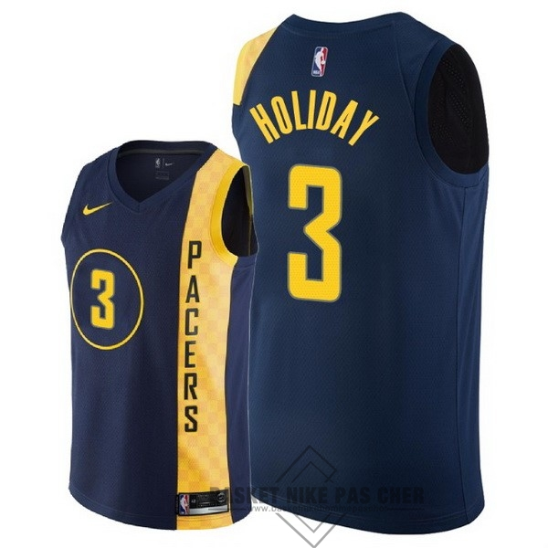 Maillot NBA Pas Cher - Maillot NBA Nike Indiana Pacers NO.3 Aaron Holiday Nike Marine Ville 2018