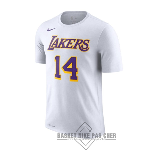Maillot NBA Pas Cher - Maillot NBA Nike Los Angeles Lakers Manche Courte NO.14 Brandon Ingram Blanc Association 2018-19