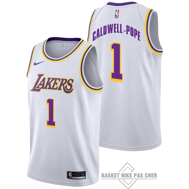 Maillot NBA Pas Cher - Maillot NBA Nike Los Angeles Lakers NO.1 Kentavious Caldwell Pope Blanc Association 2018-19