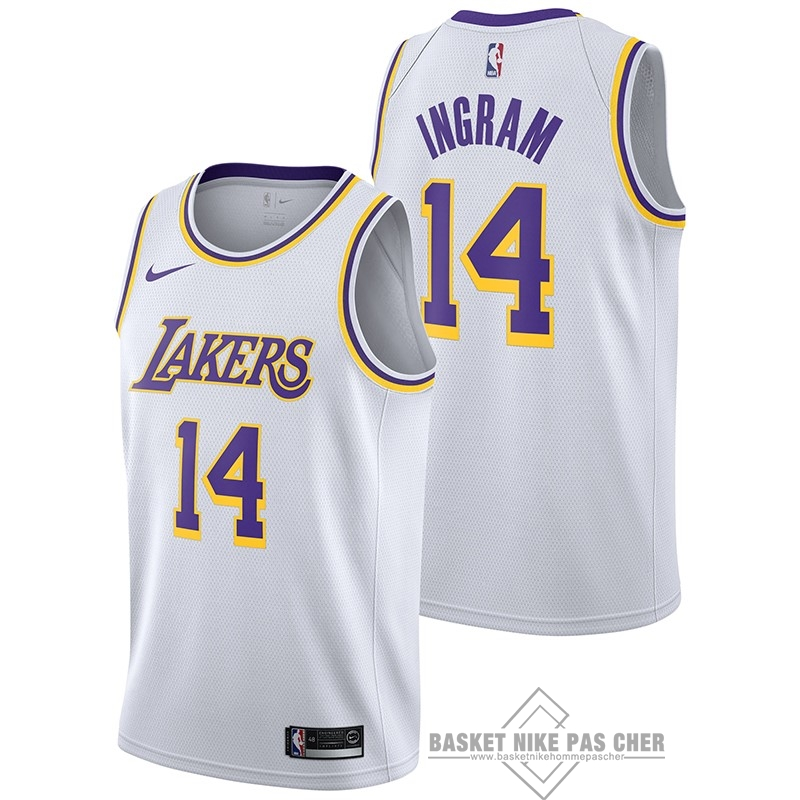 Maillot NBA Pas Cher - Maillot NBA Nike Los Angeles Lakers NO.14 Brandon Ingram Blanc Association 2018-19