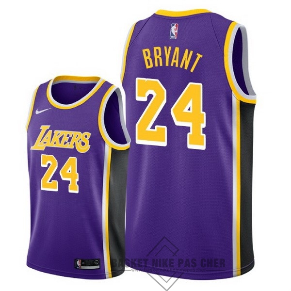 Maillot NBA Pas Cher - Maillot NBA Nike Los Angeles Lakers NO.24 Kobe Bryant Pourpre Statement 2018-19