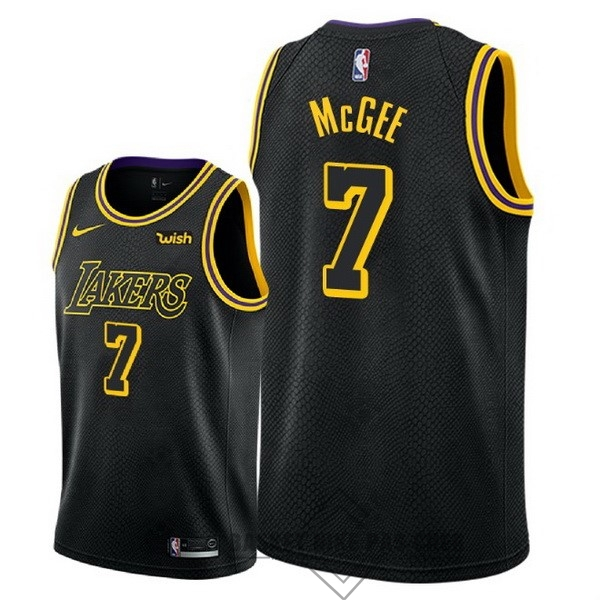 Maillot NBA Pas Cher - Maillot NBA Nike Los Angeles Lakers NO.7 JaVale McGee Noir Ville 2018