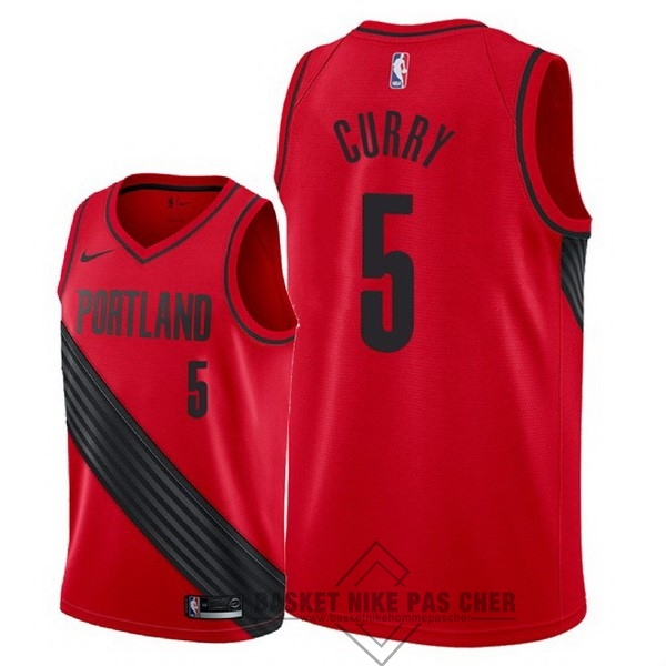 Maillot NBA Pas Cher - Maillot NBA Nike Portland Trail Blazers NO.5 Seth Curry Rouge Statement 2018