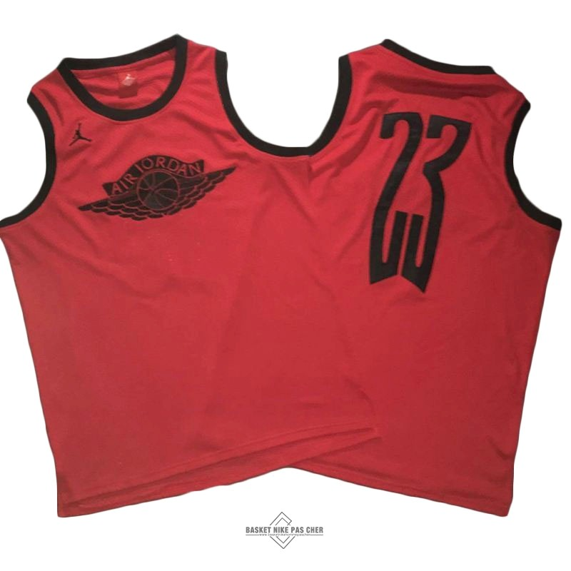 Maillot NBA Pas Cher - Maillot NBA Chicago Bulls NO.23 Michael Jordan Flying Wing Logo Rouge