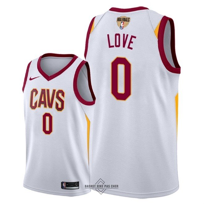 Maillot NBA Pas Cher - Maillot NBA Cleveland Cavaliers 2018 Final Champions NO.0 Kevin Love Blanc Association Patch
