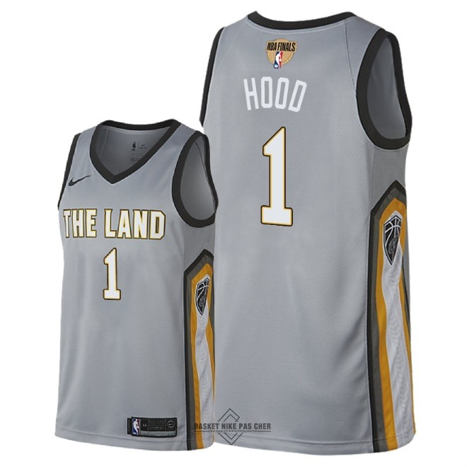 Maillot NBA Pas Cher - Maillot NBA Cleveland Cavaliers 2018 Final Champions NO.1 Rodney Hood Nike Gris Ville Patch