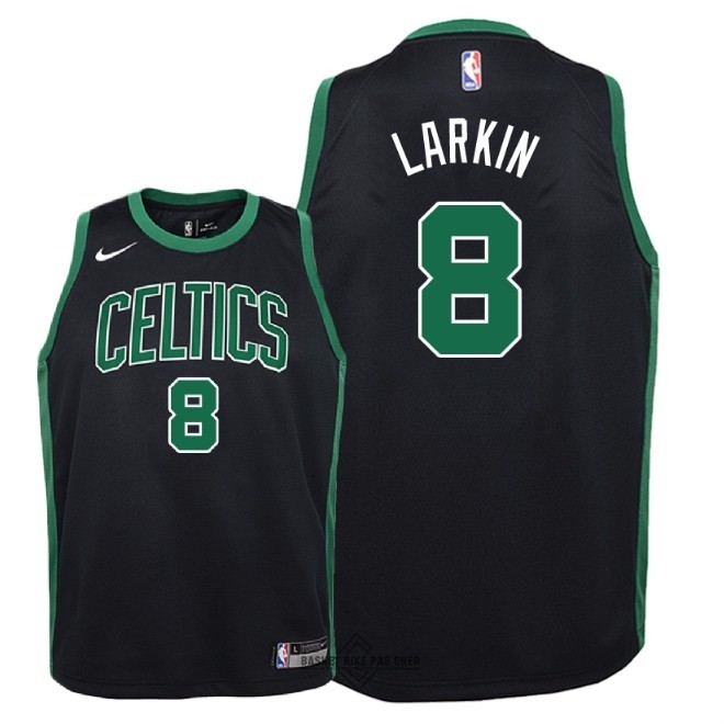 Maillot NBA Pas Cher - Maillot NBA Enfant Boston Celtics NO.8 Shane Larkin Noir Statement 2018