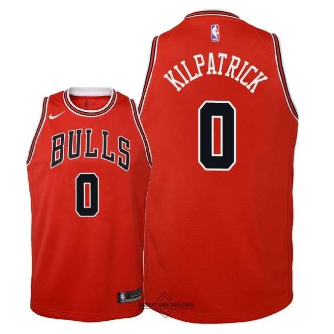 Maillot NBA Pas Cher - Maillot NBA Enfant Chicago Bulls NO.0 Sean Kilpatrick Rouge Icon 2018