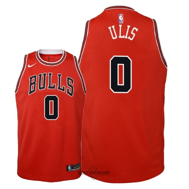 Maillot NBA Pas Cher - Maillot NBA Enfant Chicago Bulls NO.0 Tyler Ulis Rouge Icon 2018