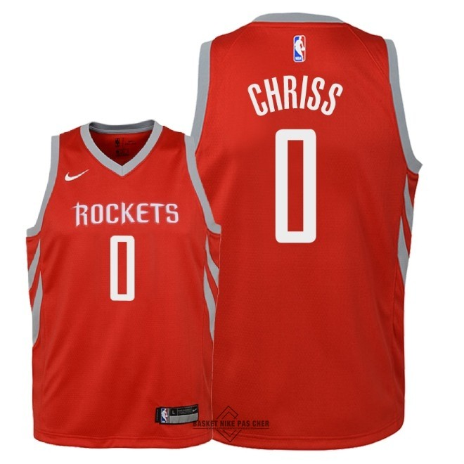 Maillot NBA Pas Cher - Maillot NBA Enfant Houston Rockets NO.0 Marquese Chriss Rouge Icon 2018