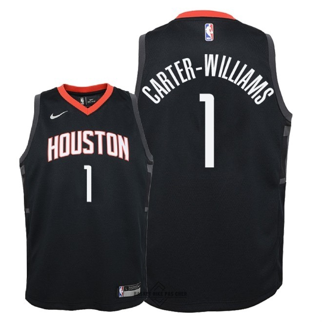 Maillot NBA Pas Cher - Maillot NBA Enfant Houston Rockets NO.1 Michael Carter Williams Noir Statement 2018