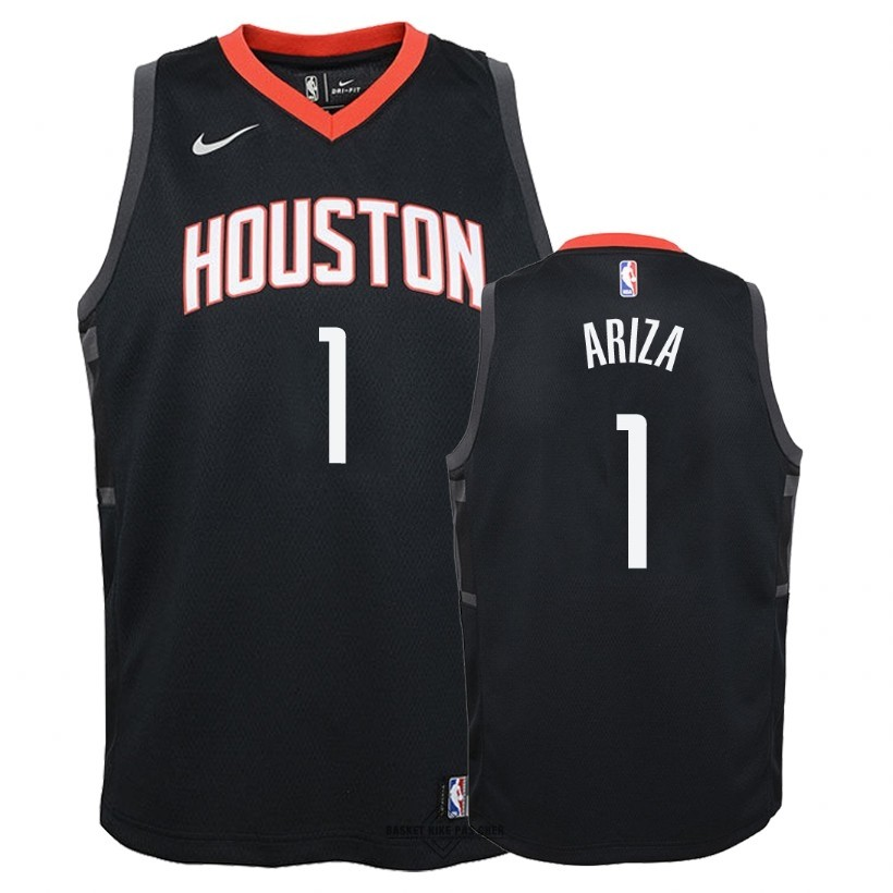 Maillot NBA Pas Cher - Maillot NBA Enfant Houston Rockets NO.1 Trevor Ariza Noir Statement 2018