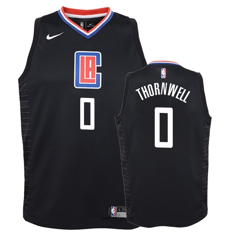 Maillot NBA Pas Cher - Maillot NBA Enfant Los Angeles Clippers NO.0 Sindarius Thornwell Noir Statement 2018