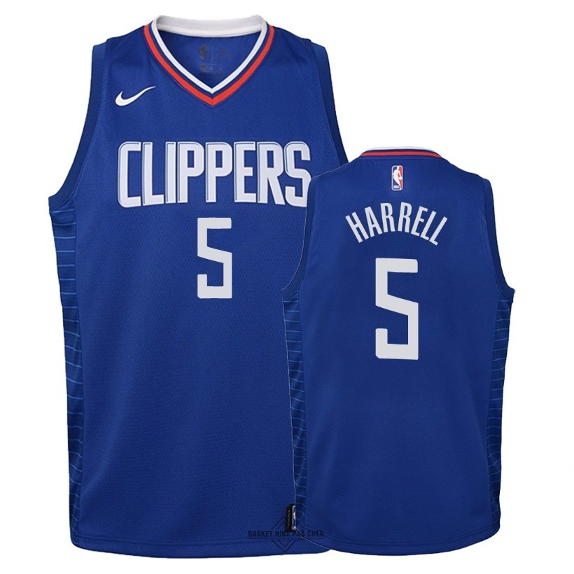 Maillot NBA Pas Cher - Maillot NBA Enfant Los Angeles Clippers NO.5 Montrezl Harrell Bleu Icon 2018