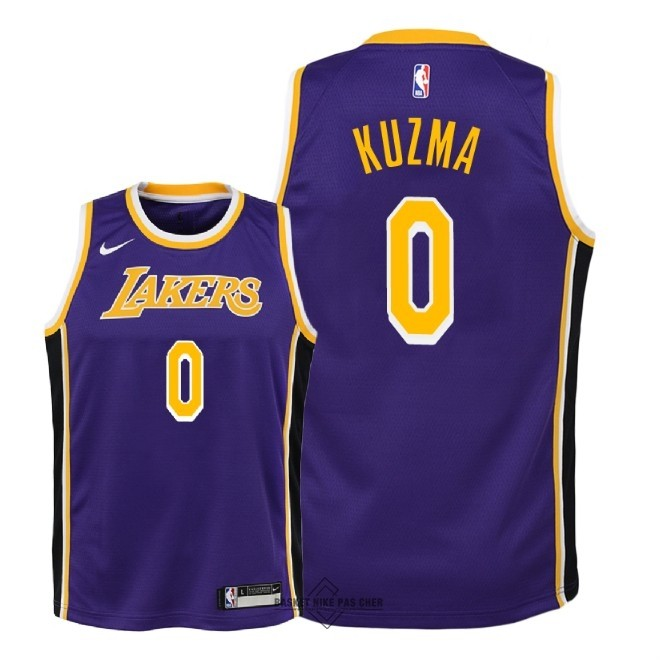 Maillot NBA Pas Cher - Maillot NBA Enfant Los Angeles Lakers NO.0 Kyle Kuzma Pourpre Statement 2018-19