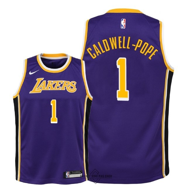 Maillot NBA Pas Cher - Maillot NBA Enfant Los Angeles Lakers NO.1 Kentavious Caldwell Pope Pourpre Statement 2018-19