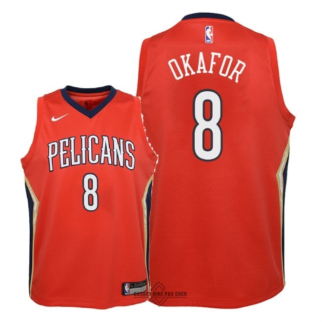 Maillot NBA Pas Cher - Maillot NBA Enfant New Orleans Pelicans NO.8 Jahlil Okafor Rouge Statement 2018