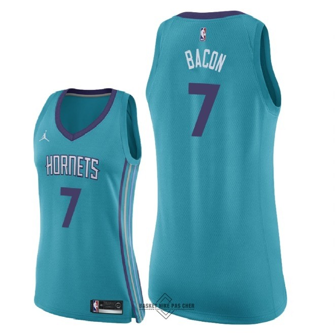 Maillot NBA Pas Cher - Maillot NBA Femme Charlotte Hornets NO.7 Dwayne Bacon Vert Icon 2018