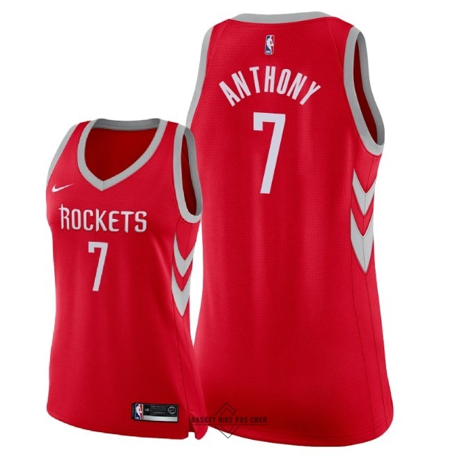 Maillot NBA Pas Cher - Maillot NBA Femme Houston Rockets NO.7 Carmelo Anthony Rouge Icon 2018