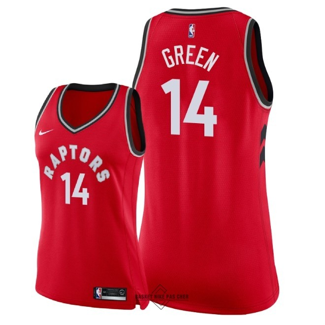 Maillot NBA Pas Cher - Maillot NBA Femme Toronto Raptors NO.14 Danny Green Rouge Icon 2018