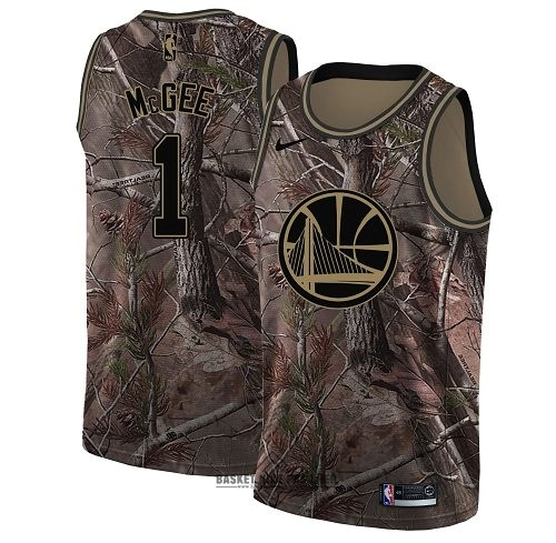 Maillot NBA Pas Cher - Maillot NBA Golden State Warriors NO.1 JaVale McGee Camo Swingman Collection Realtree 2018