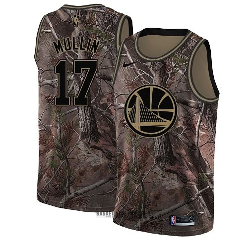 Maillot NBA Pas Cher - Maillot NBA Golden State Warriors NO.17 Chris Mullin Camo Swingman Collection Realtree 2018