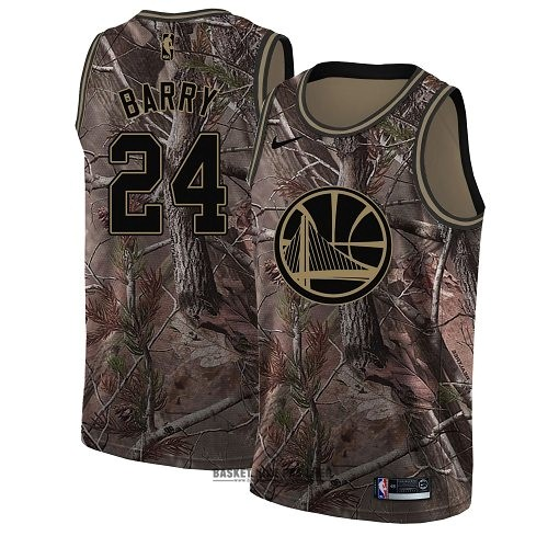 Maillot NBA Pas Cher - Maillot NBA Golden State Warriors NO.24 Rick Barry Camo Swingman Collection Realtree 2018