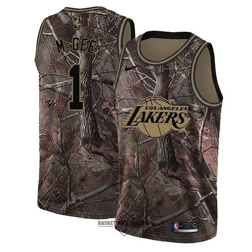 Maillot NBA Pas Cher - Maillot NBA Los Angeles Lakers NO.1 JaVale McGee Camo Swingman Collection Realtree 2018