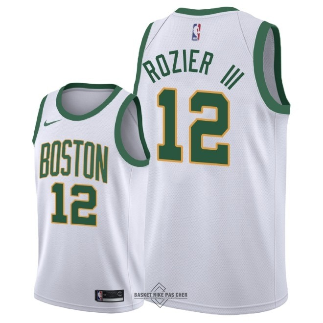 Maillot NBA Pas Cher - Maillot NBA Nike Boston Celtics NO.12 Terry Rozier III Nike Blanc Ville 2018-19
