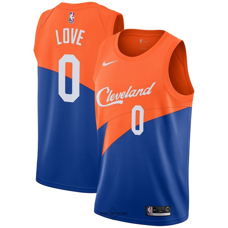 Maillot NBA Pas Cher - Maillot NBA Nike Cleveland Cavaliers NO.0 Kevin Love Nike Bleu Ville 2018-19