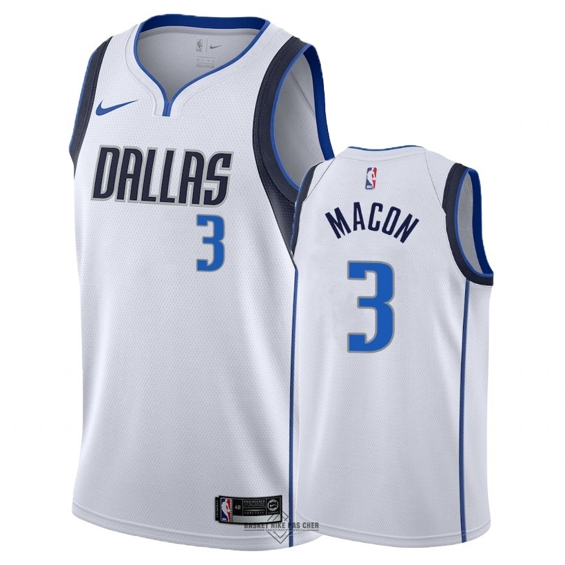 Maillot NBA Pas Cher - Maillot NBA Nike Dallas Mavericks NO.3 Daryl Macon Blanc Association 2018