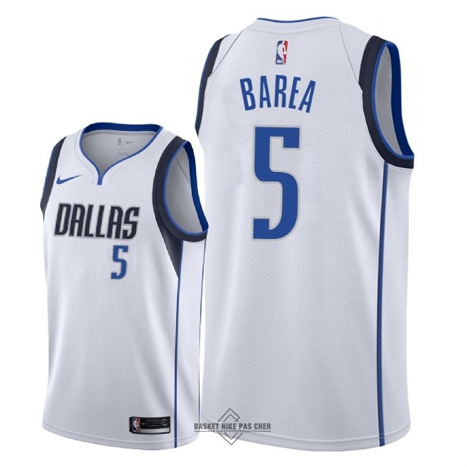 Maillot NBA Pas Cher - Maillot NBA Nike Dallas Mavericks NO.5 J.J. Barea Blanc Association 2018