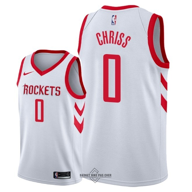 Maillot NBA Pas Cher - Maillot NBA Nike Houston Rockets NO.0 Marquese Chriss Blanc Association 2018