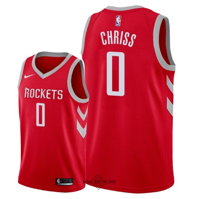 Maillot NBA Pas Cher - Maillot NBA Nike Houston Rockets NO.0 Marquese Chriss Rouge Icon 2018