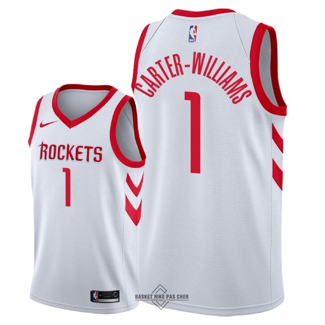Maillot NBA Pas Cher - Maillot NBA Nike Houston Rockets NO.1 Michael Carter Williams Blanc Association 2018
