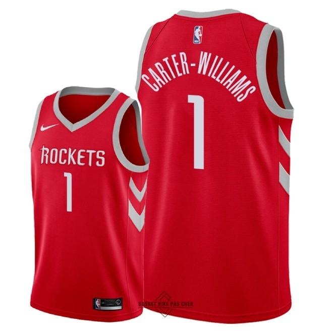 Maillot NBA Pas Cher - Maillot NBA Nike Houston Rockets NO.1 Michael Carter Williams Rouge Icon 2018