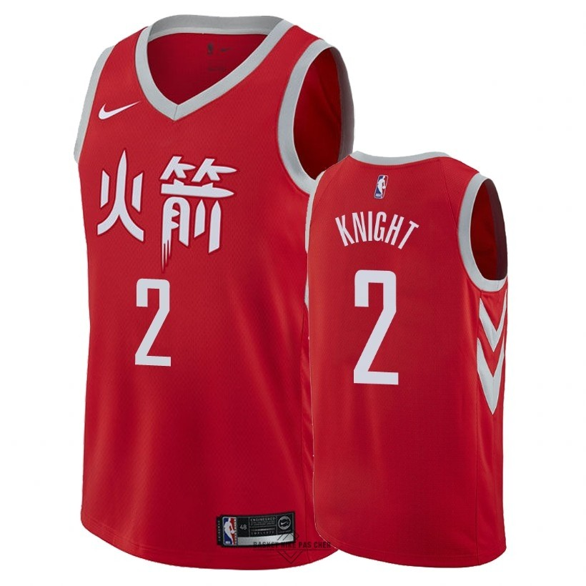 Maillot NBA Pas Cher - Maillot NBA Nike Houston Rockets NO.2 Brandon Knight Nike Rouge Ville 2018