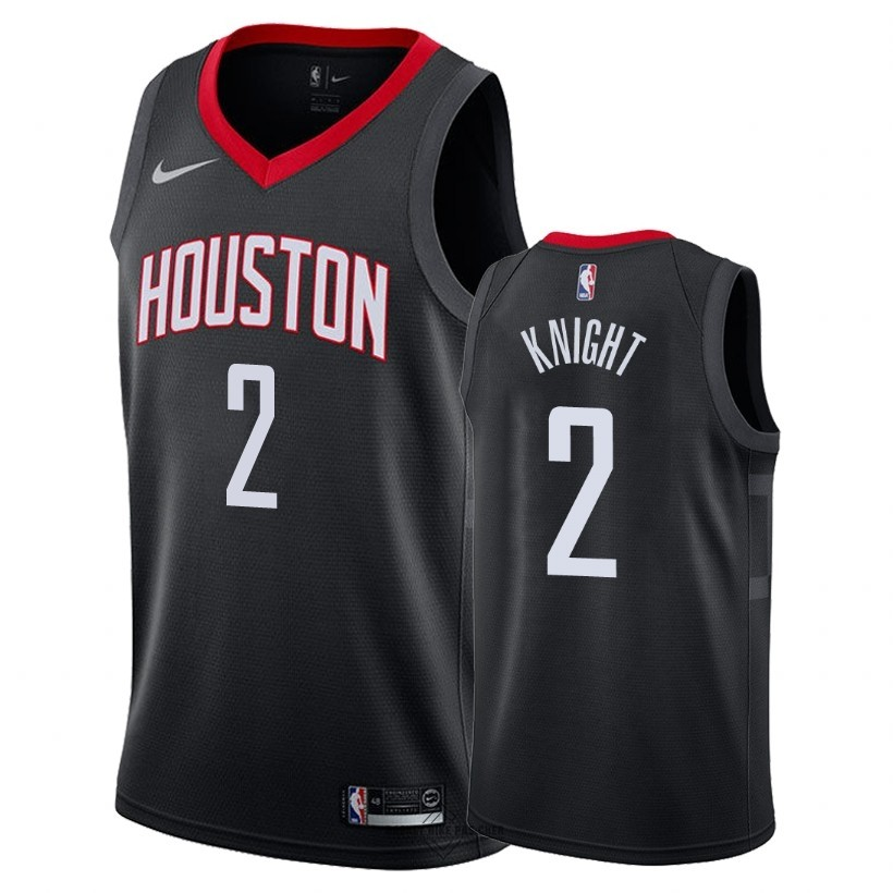Maillot NBA Pas Cher - Maillot NBA Nike Houston Rockets NO.2 Brandon Knight Noir Statement 2018