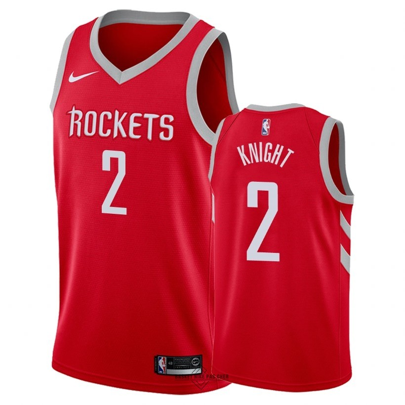 Maillot NBA Pas Cher - Maillot NBA Nike Houston Rockets NO.2 Brandon Knight Rouge Icon 2018
