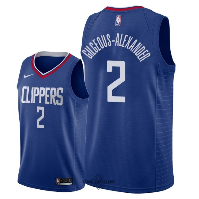 Maillot NBA Pas Cher - Maillot NBA Nike Los Angeles Clippers NO.2 Shai Gilgeous Alexander Bleu Icon 2018
