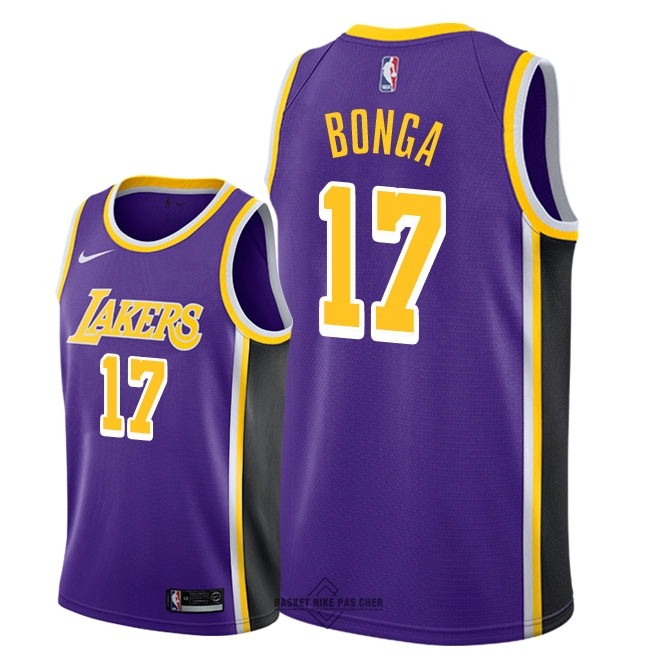 Maillot NBA Pas Cher - Maillot NBA Nike Los Angeles Lakers NO.17 Isaac Bonga Pourpre Statement 2018-19