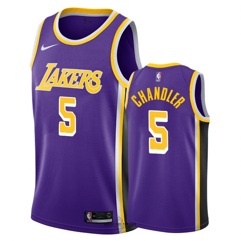 Maillot NBA Pas Cher - Maillot NBA Nike Los Angeles Lakers NO.5 Tyson Chandler Pourpre Statement 2018-19