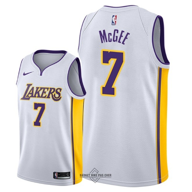 Maillot NBA Pas Cher - Maillot NBA Nike Los Angeles Lakers NO.7 JaVale McGee Blanc Association 2018