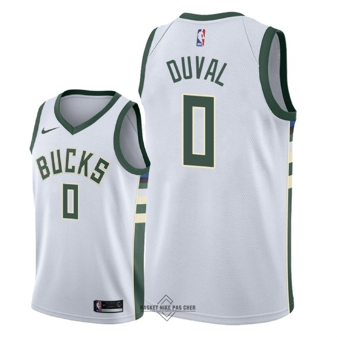 Maillot NBA Pas Cher - Maillot NBA Nike Milwaukee Bucks NO.0 Trevon Duval Blanc Association 2018