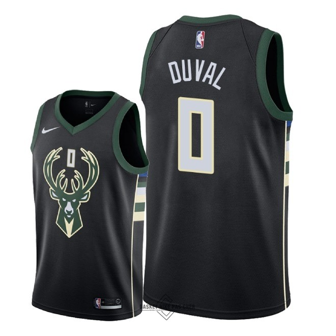 Maillot NBA Pas Cher - Maillot NBA Nike Milwaukee Bucks NO.0 Trevon Duval Noir Statement 2018