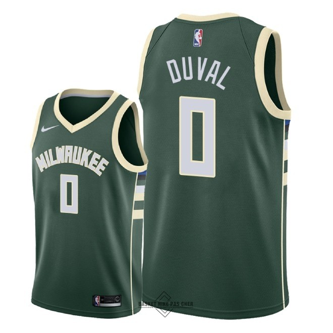 Maillot NBA Pas Cher - Maillot NBA Nike Milwaukee Bucks NO.0 Trevon Duval Vert Icon 2018
